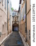 Small photo of Old Town street architecture during the Avignon Festival Off. Avignonâ??s history is one of acrimony.