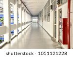 old building hall way background | Shutterstock . vector #1051121228