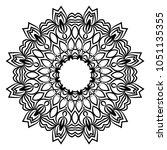 vector hand drawn doodle... | Shutterstock .eps vector #1051135355
