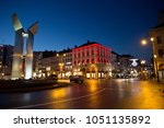brussels   december 20  view at ... | Shutterstock . vector #1051135892