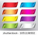 set of 8 blank ribbon banners... | Shutterstock .eps vector #1051138502
