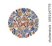 girl power lettering design...   Shutterstock .eps vector #1051147775