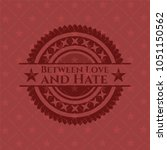 between love and hate red... | Shutterstock .eps vector #1051150562