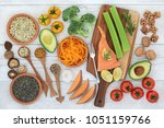 super food to promote brain... | Shutterstock . vector #1051159766