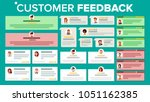 customer feedback vector.... | Shutterstock .eps vector #1051162385