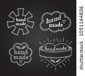 set of handmade labels drawing... | Shutterstock .eps vector #1051164836