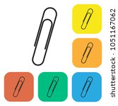 paper clip icon. flat isolated...   Shutterstock .eps vector #1051167062
