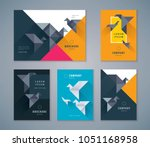 cover book design set  colorful ... | Shutterstock .eps vector #1051168958
