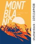 montblanc in alps  france ...   Shutterstock .eps vector #1051169438