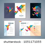 cover book design set  colorful ... | Shutterstock .eps vector #1051171055