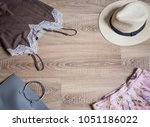 online shopping layout for... | Shutterstock . vector #1051186022