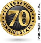 celebrating 70th years... | Shutterstock .eps vector #1051193552