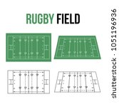 rugby field vector illustration | Shutterstock .eps vector #1051196936