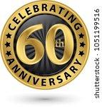 celebrating 60th anniversary... | Shutterstock .eps vector #1051199516