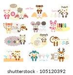 cute animal scrap book design   Shutterstock .eps vector #105120392