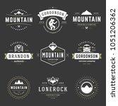 camping logos templates vector... | Shutterstock .eps vector #1051206362