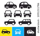set of car. monochrome icon on... | Shutterstock .eps vector #1051211786
