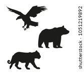 eagle  bear and tiger black... | Shutterstock .eps vector #1051219892