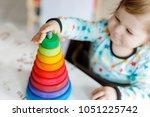 adorable cute beautiful little... | Shutterstock . vector #1051225742