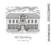Old Building. Hand Drawn...