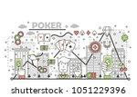 poker card game concept vector...   Shutterstock .eps vector #1051229396