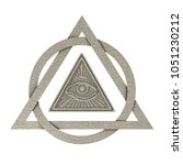 masonic symbol concept. all... | Shutterstock . vector #1051230212
