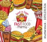 fast food restaurant menu...   Shutterstock .eps vector #1051231526