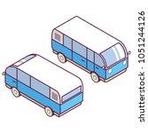 isometric van.vehicle car... | Shutterstock .eps vector #1051244126