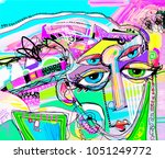 original abstract digital... | Shutterstock .eps vector #1051249772