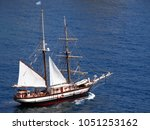 sailing boat in the... | Shutterstock . vector #1051253162