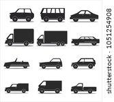 car icon set | Shutterstock .eps vector #1051254908