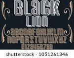 font alphabet typeface... | Shutterstock .eps vector #1051261346