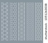 seamless line borders patterns... | Shutterstock .eps vector #1051263038