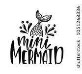baby mermaid. inspirational... | Shutterstock .eps vector #1051268336