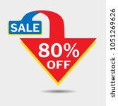 80  off triangle discount... | Shutterstock .eps vector #1051269626