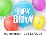 colorful festive balloons on a... | Shutterstock .eps vector #1051270208