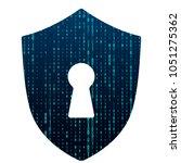 banner cyber security data on... | Shutterstock .eps vector #1051275362