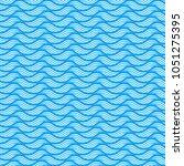 blue seamless wave linear... | Shutterstock .eps vector #1051275395