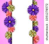 vector illustrator spring... | Shutterstock .eps vector #1051278572