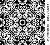 hand drawn seamless pattern... | Shutterstock .eps vector #1051293065