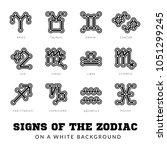 zodiac signs. thin line vector...
