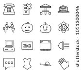 flat vector icon set   phone... | Shutterstock .eps vector #1051300046