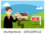 realtor doing promotion to sell ... | Shutterstock .eps vector #1051309112
