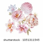 Stock photo the visual enjoyment of flowers the leaves and flowers art design 1051311545