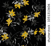 vector seamless beautiful... | Shutterstock .eps vector #1051313606