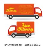truck fast and free delivery ... | Shutterstock .eps vector #105131612