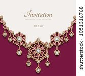 elegant vector background with... | Shutterstock .eps vector #1051316768