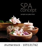 spa concept in black | Shutterstock . vector #105131762