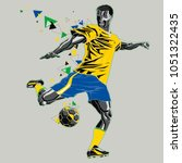 soccer player with a graphic... | Shutterstock .eps vector #1051322435