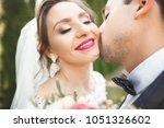 perfect couple bride  groom... | Shutterstock . vector #1051326602